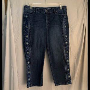 Gloria Vanderbilt slimming ankle jordyn jeans 14